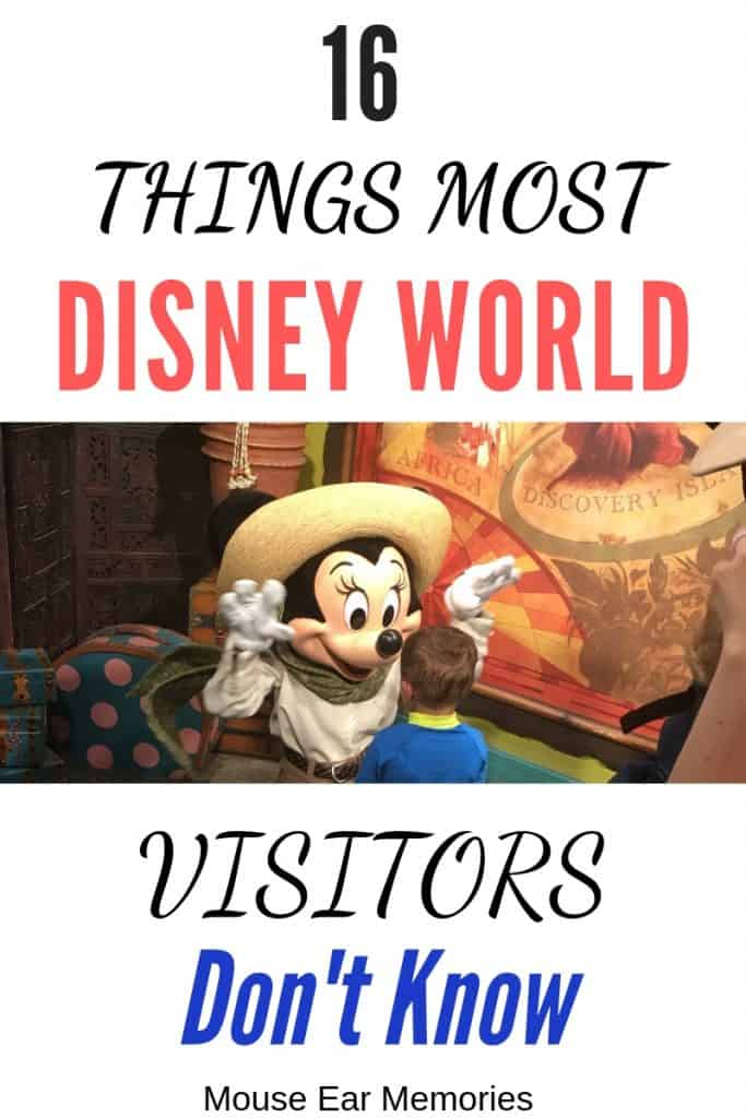 16 things most Disney World Visitors Dont Know. A great list to check over before your next trip!
