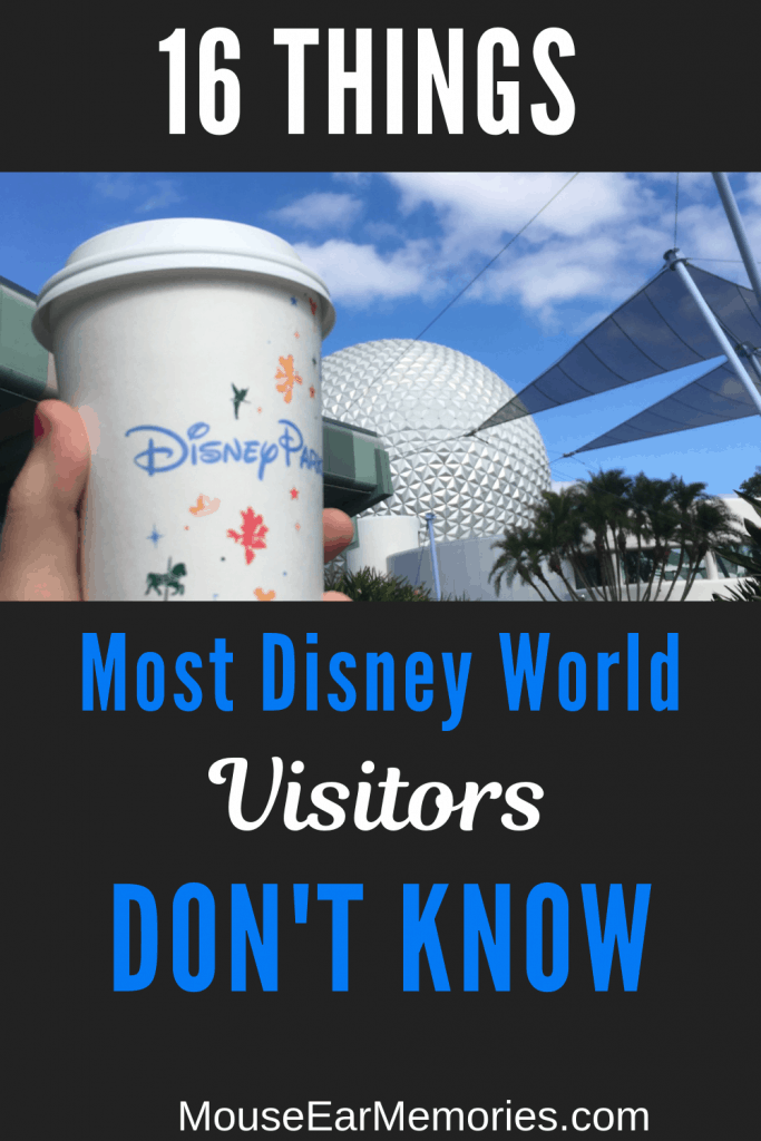 16 of Disney World's Secrets that most visitors don't know. A Must read before you go to the parks.