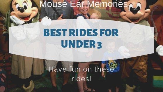 Best rides for under 3