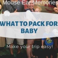 Easy Baby Packing Guide for Disney Vacation