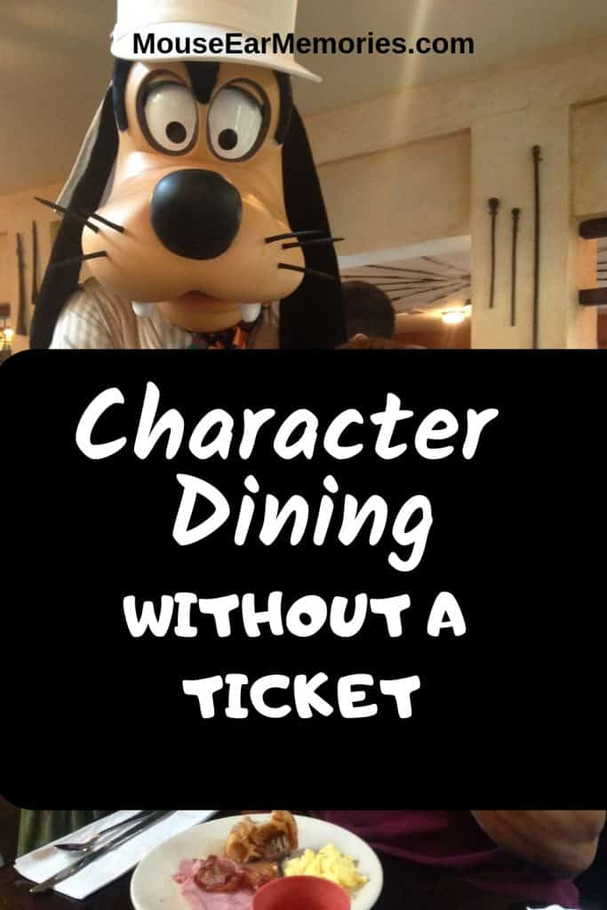 Character Dining at Disney World without a ticket is a great way to make the most of your arrival and departure days! Plan this for your next Disney Vacation!