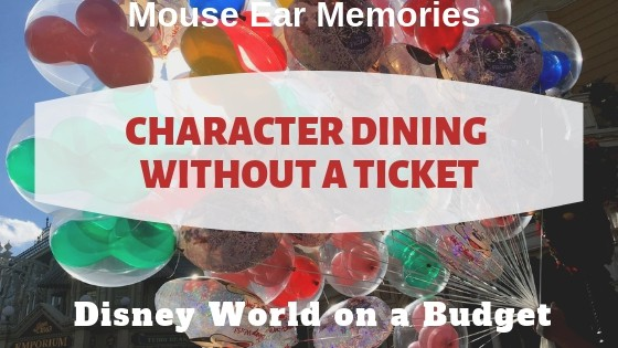 A Guide for character dining without a ticket at Disney World