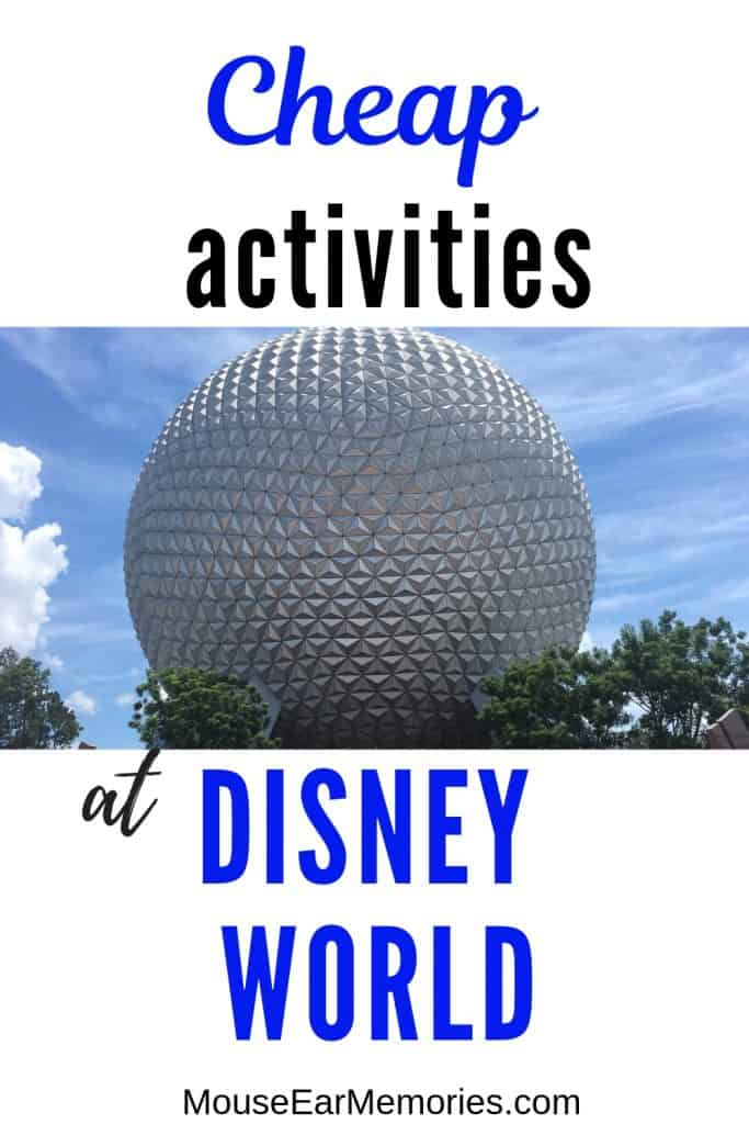 Cheap activities to do on Disney World Property to add to your next vacation to Disney! Experience the Disney World Magic without breaking your budget. #disneyworldtips #disneyworldbudget #MEM