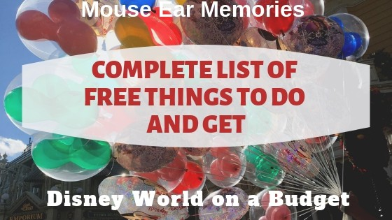 complete list of free things to do and get at Disney World