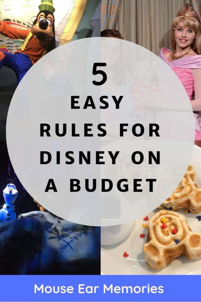 Want to know the most important ways to save on a Disney Vacation? These five rules will keep you on the right track to a budget friendly Disney Destination.