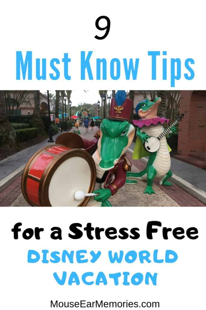 9 Must Know Tips for a Stress Free Disney World Vacation! You need to read these before you head out on your next Disney Trip! #disneyworldtips #disneyworld