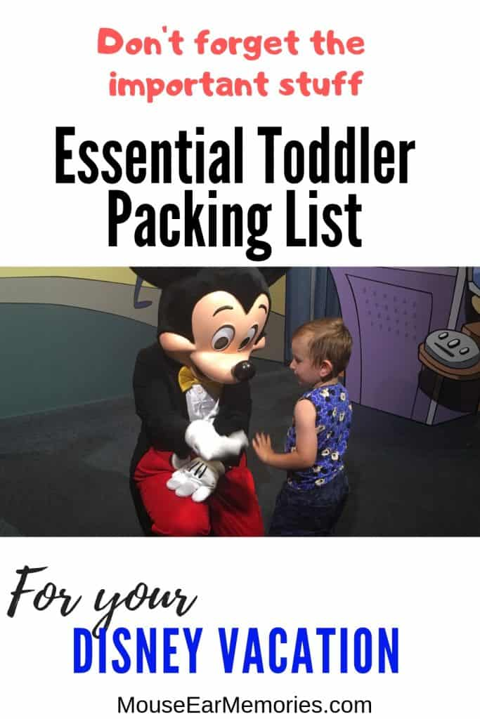 The essential toddler packing list for your next Disney Vacation! Don't forget the important stuff (or bring stuff that you don't need!) Find out from the seasoned experts what to bring for Toddler to Walt Disney World!