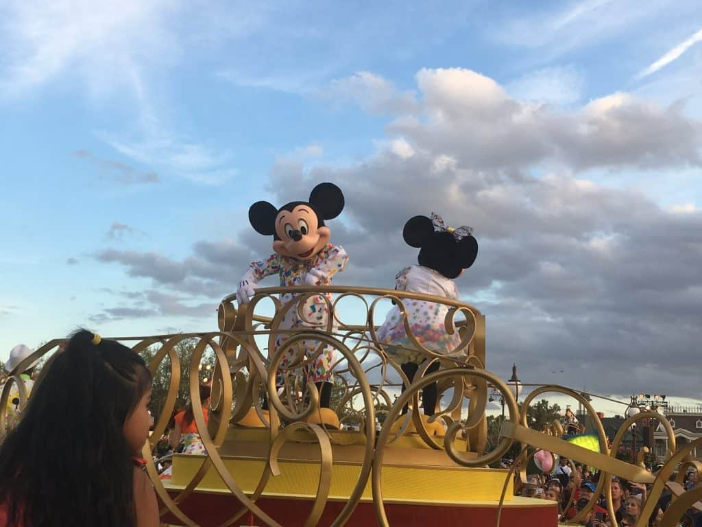 mickey and Minnie suprise celebration parade for 2019