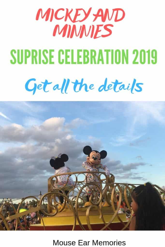 Mickey and Minnie's Suprise Celebration 2019- get all the details!