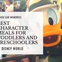 The Very Best Character Breakfasts for Toddlers and Preschoolers at Disney World