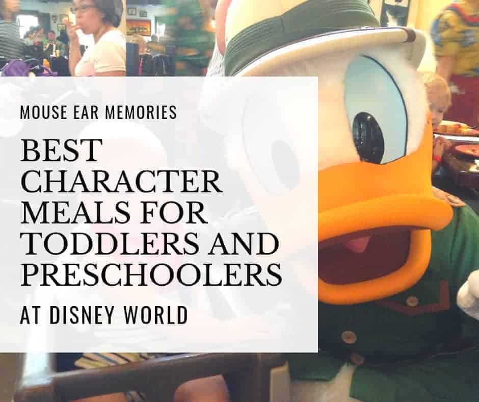 the best character meals at Disney World for toddlers and preschoolers